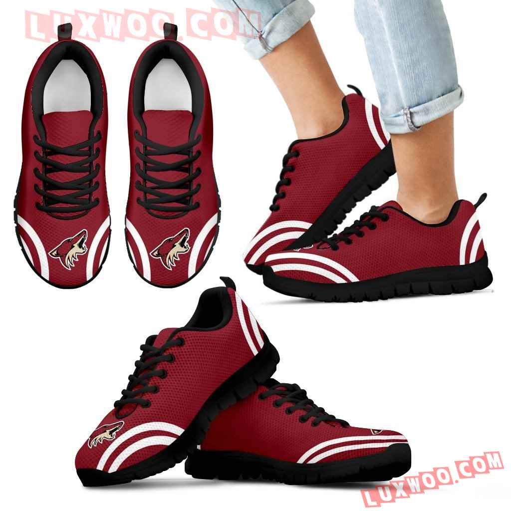 Lovely Curves Stunning Logo Icon Arizona Coyotes Sneakers