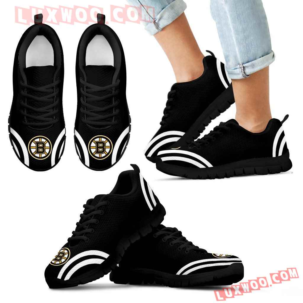Lovely Curves Stunning Logo Icon Boston Bruins Sneakers