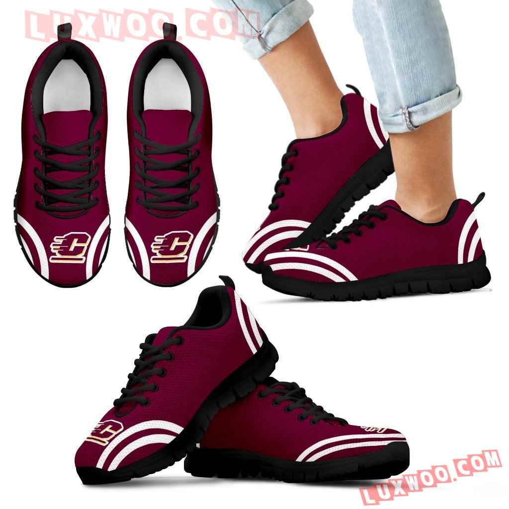 Lovely Curves Stunning Logo Icon Central Michigan Chippewas Sneakers