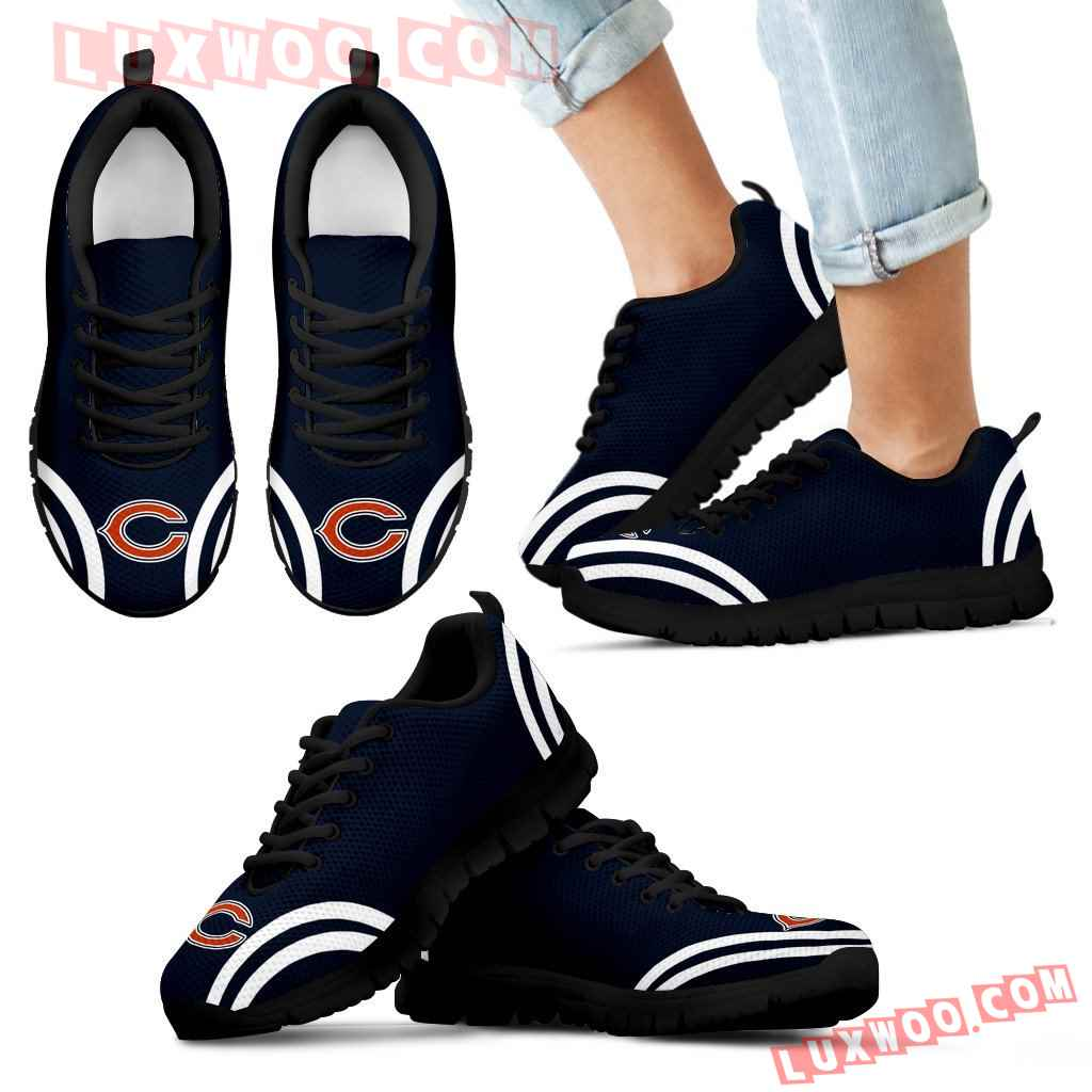 Lovely Curves Stunning Logo Icon Chicago Bears Sneakers