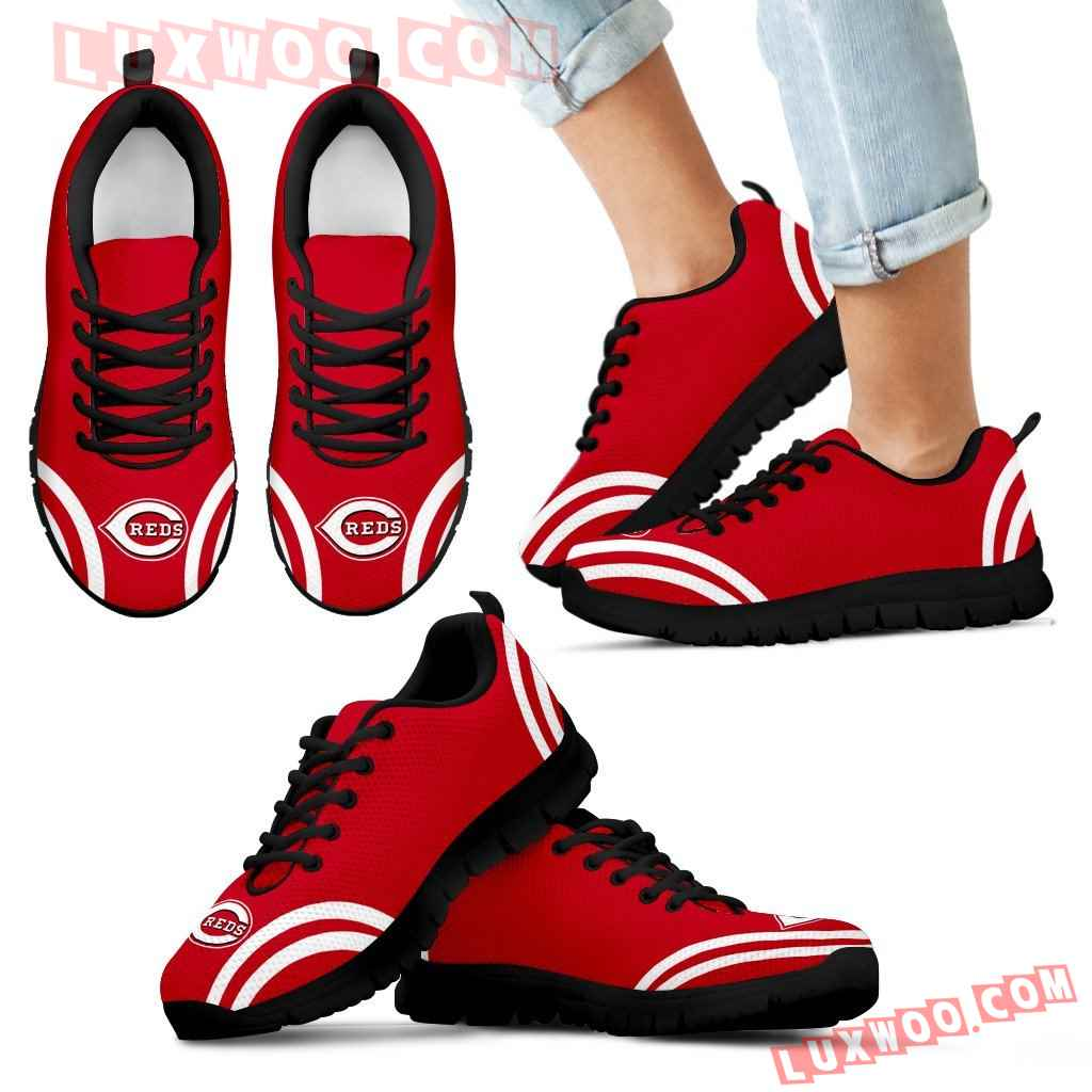 Lovely Curves Stunning Logo Icon Cincinnati Reds Sneakers