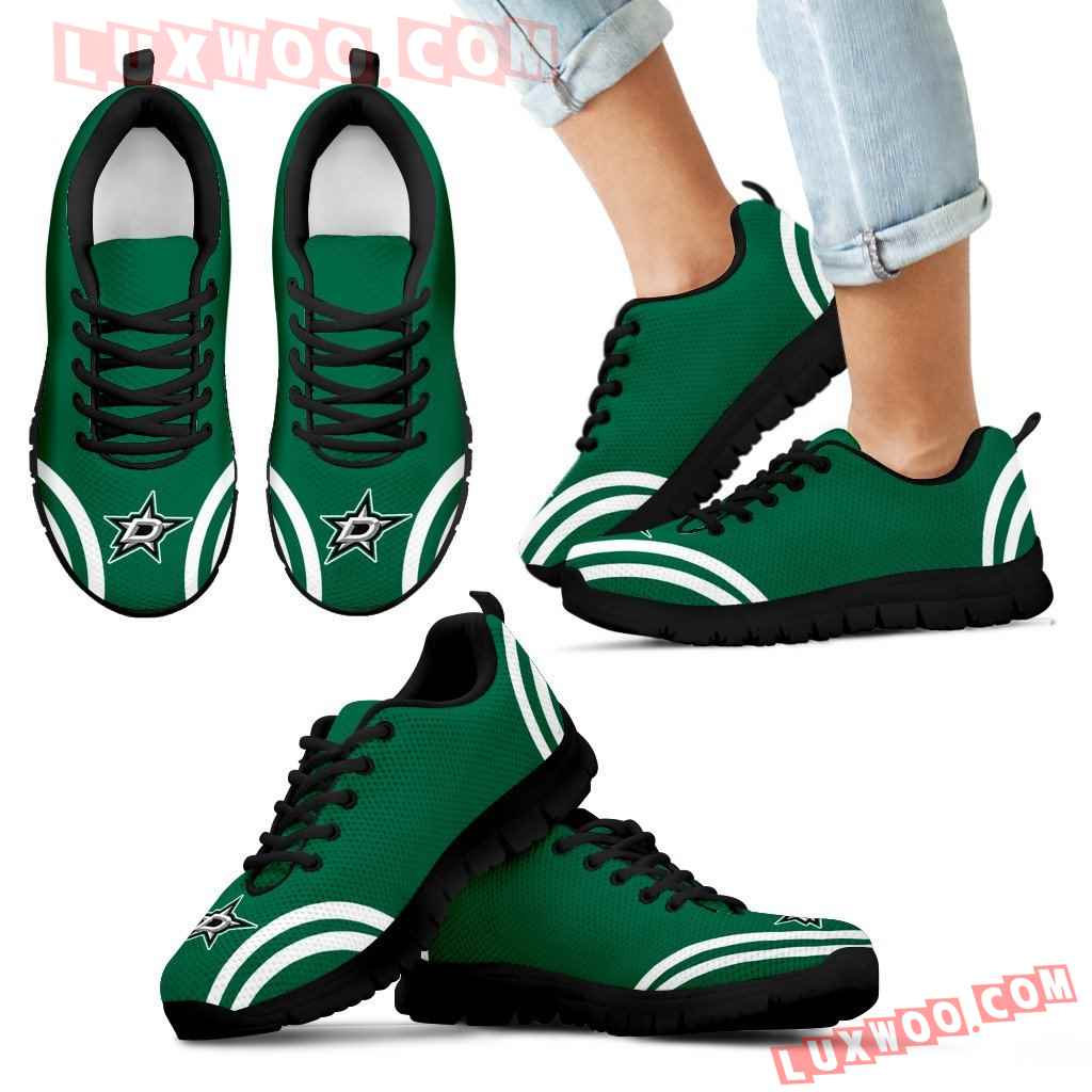 Lovely Curves Stunning Logo Icon Dallas Stars Sneakers