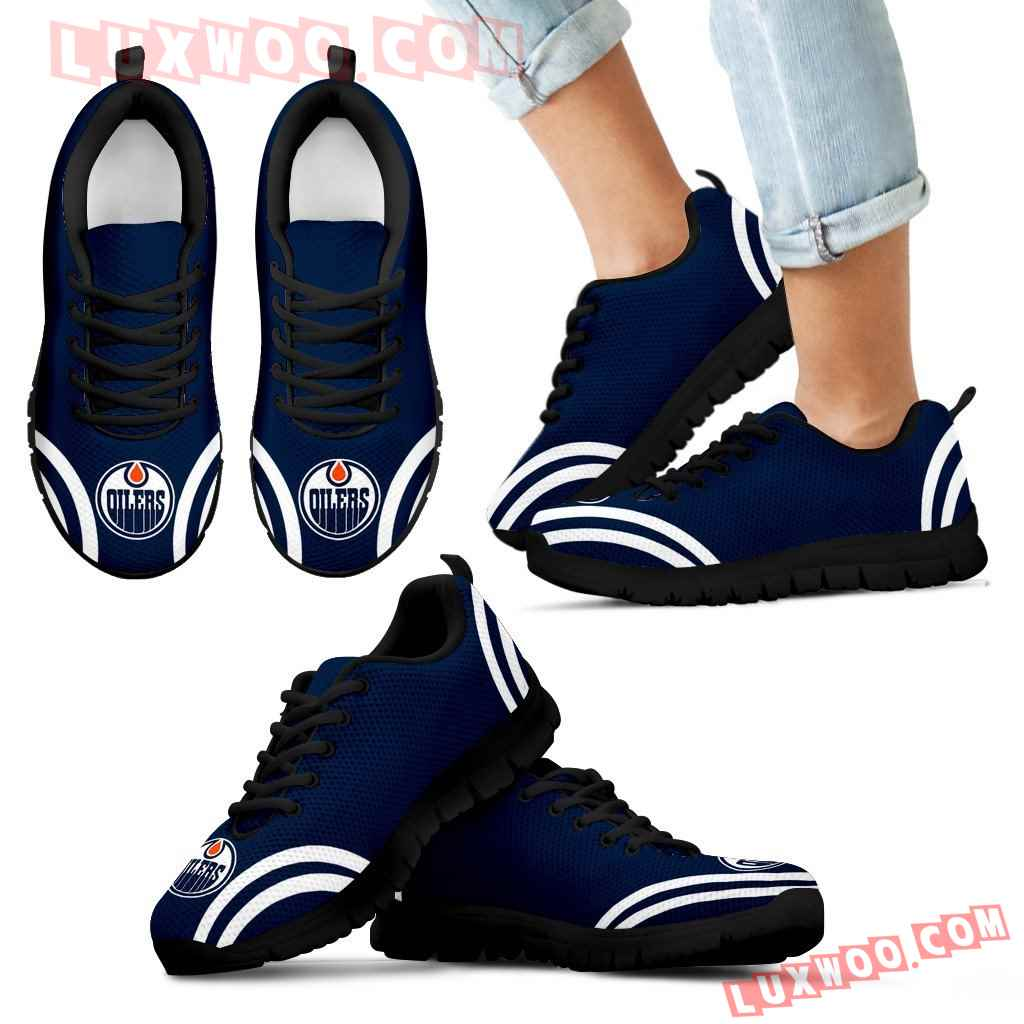 Lovely Curves Stunning Logo Icon Edmonton Oilers Sneakers