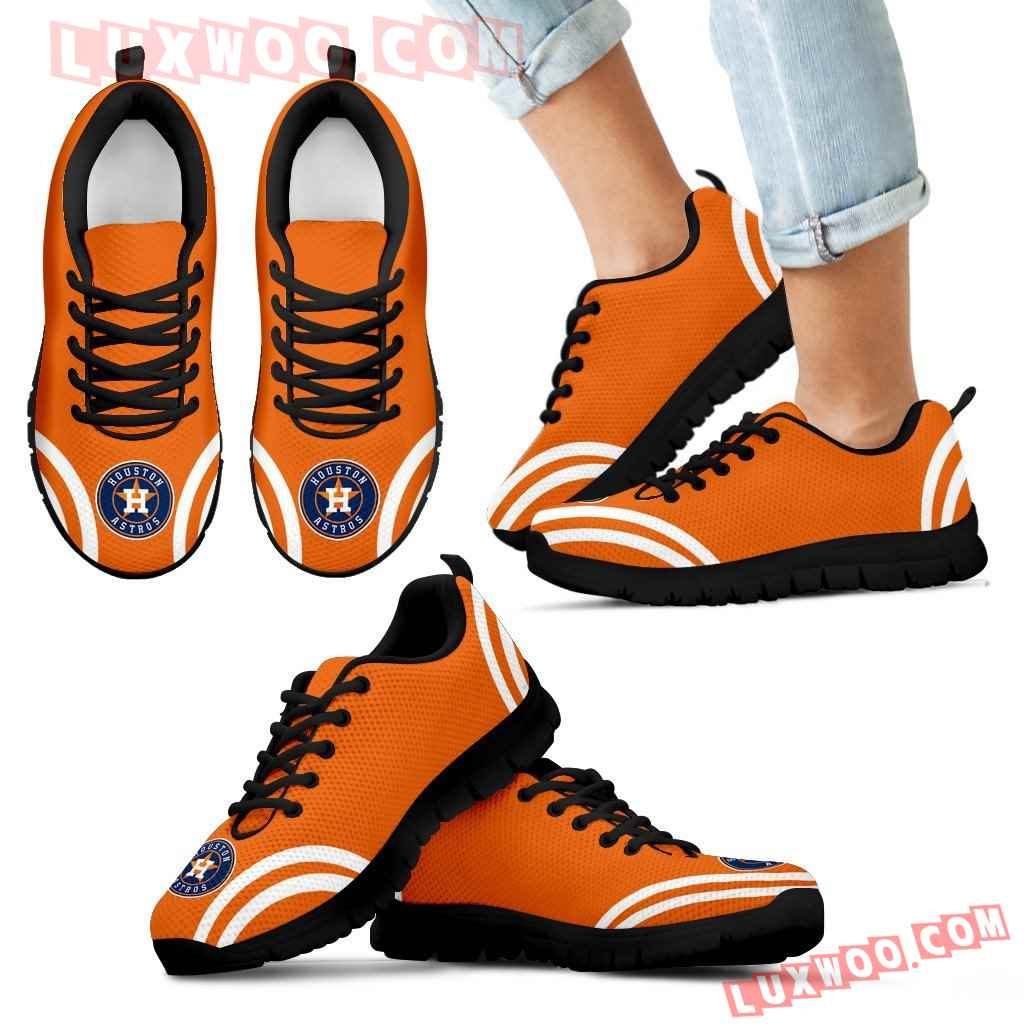 Lovely Curves Stunning Logo Icon Houston Astros Sneakers