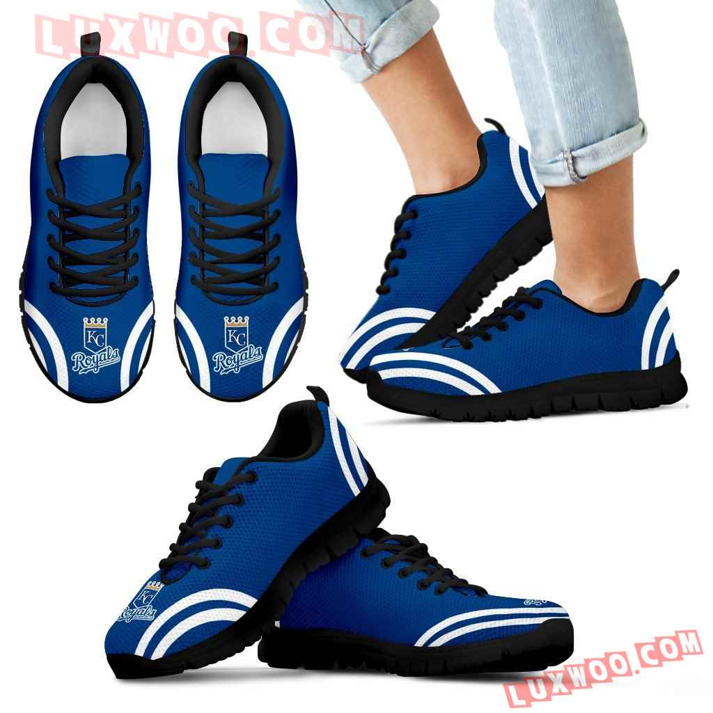 Lovely Curves Stunning Logo Icon Kansas City Royals Sneakers