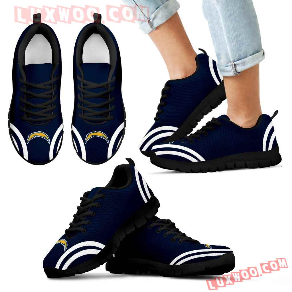 Lovely Curves Stunning Logo Icon Los Angeles Chargers Sneakers