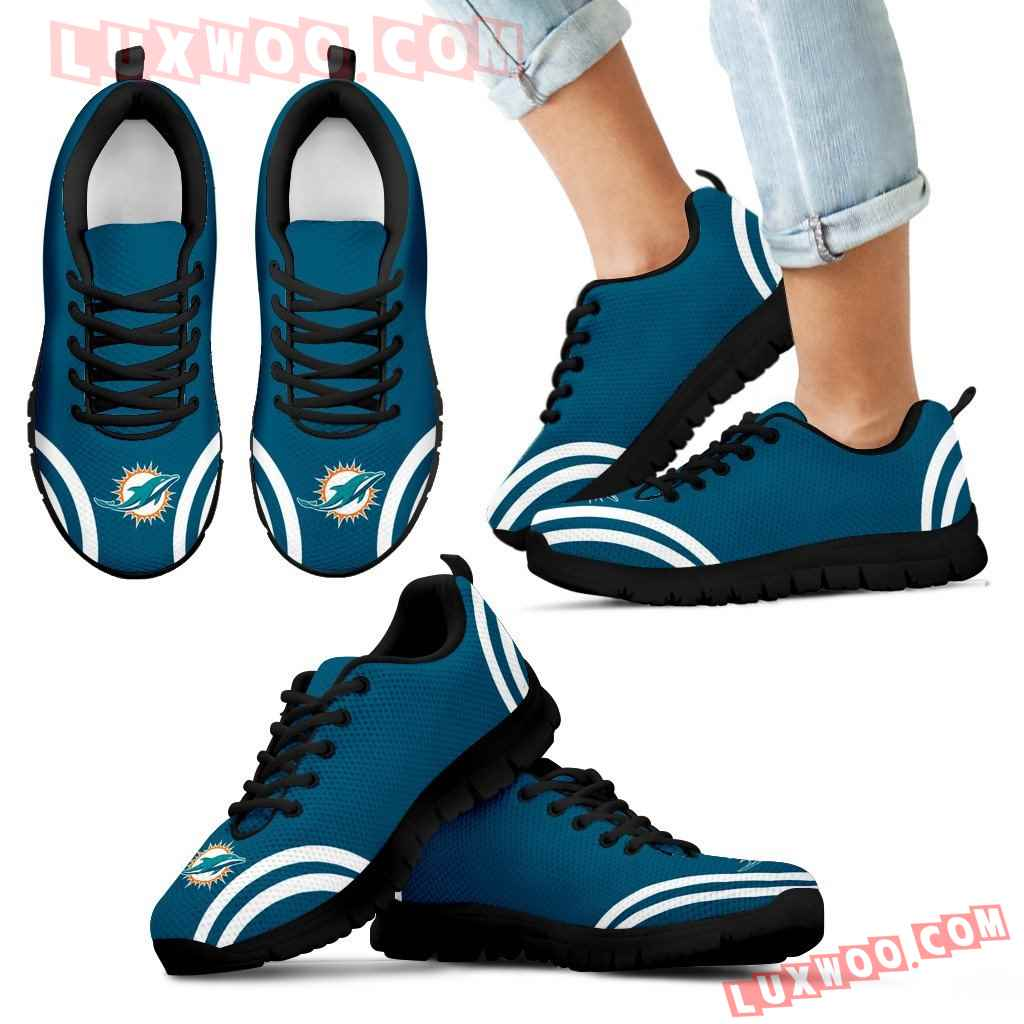Lovely Curves Stunning Logo Icon Miami Dolphins Sneakers