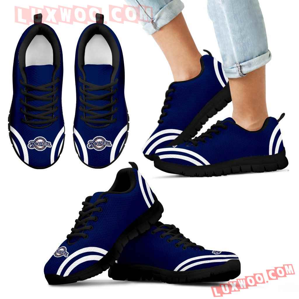 Lovely Curves Stunning Logo Icon Milwaukee Brewers Sneakers
