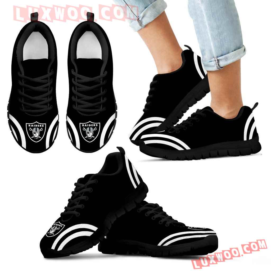 Lovely Curves Stunning Logo Icon Oakland Raiders Sneakers
