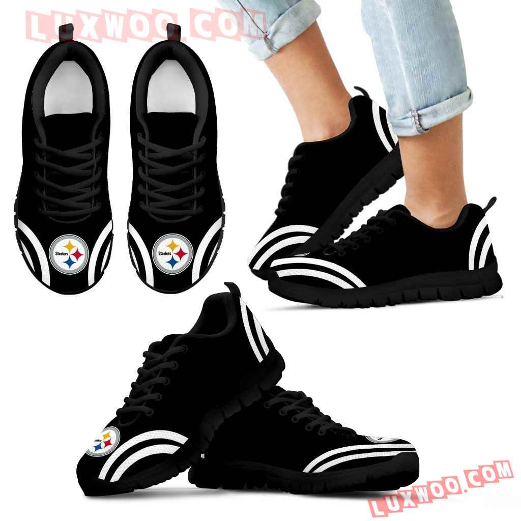 Lovely Curves Stunning Logo Icon Pittsburgh Steelers Sneakers
