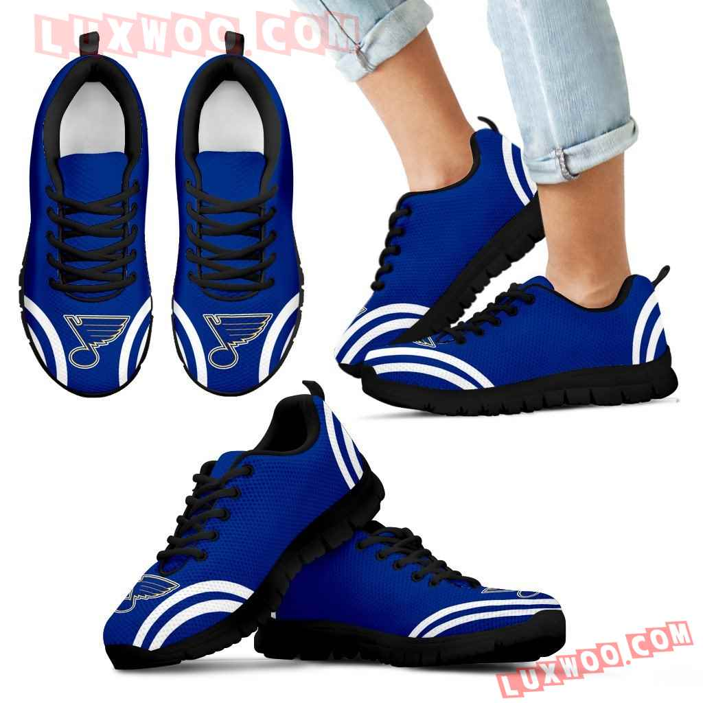 Lovely Curves Stunning Logo Icon St Louis Blues Sneakers
