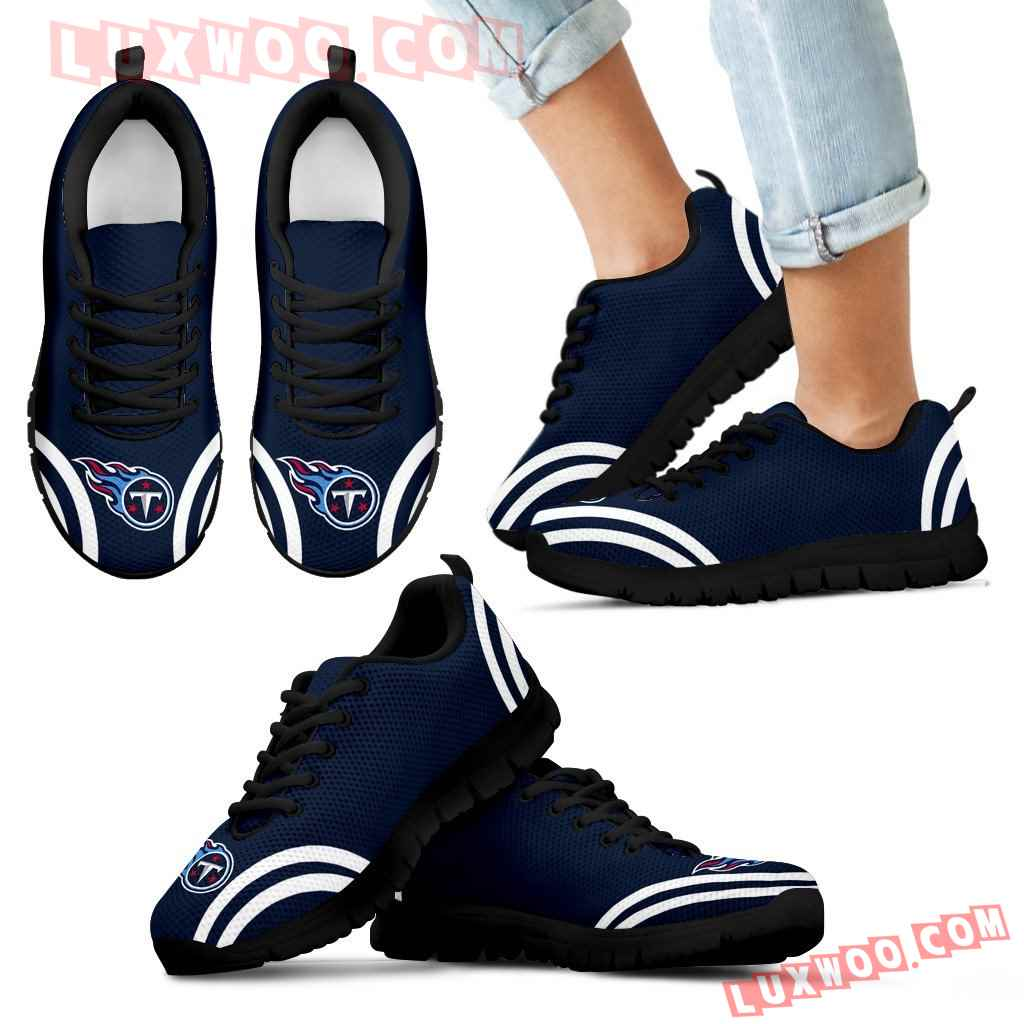 Lovely Curves Stunning Logo Icon Tennessee Titans Sneakers