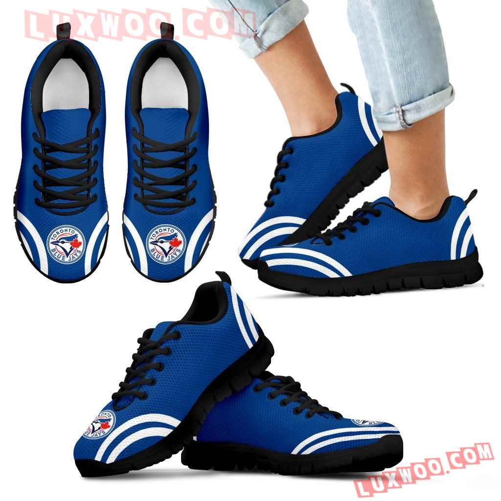 Lovely Curves Stunning Logo Icon Toronto Blue Jays Sneakers