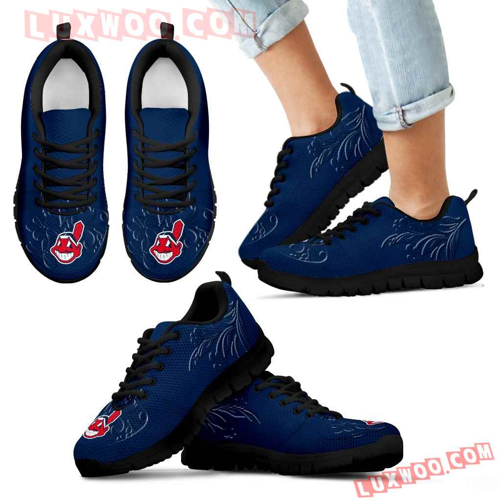 Lovely Floral Print Cleveland Indians Sneakers