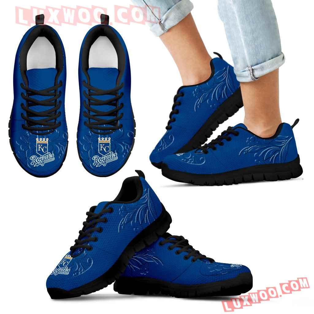 Lovely Floral Print Kansas City Royals Sneakers