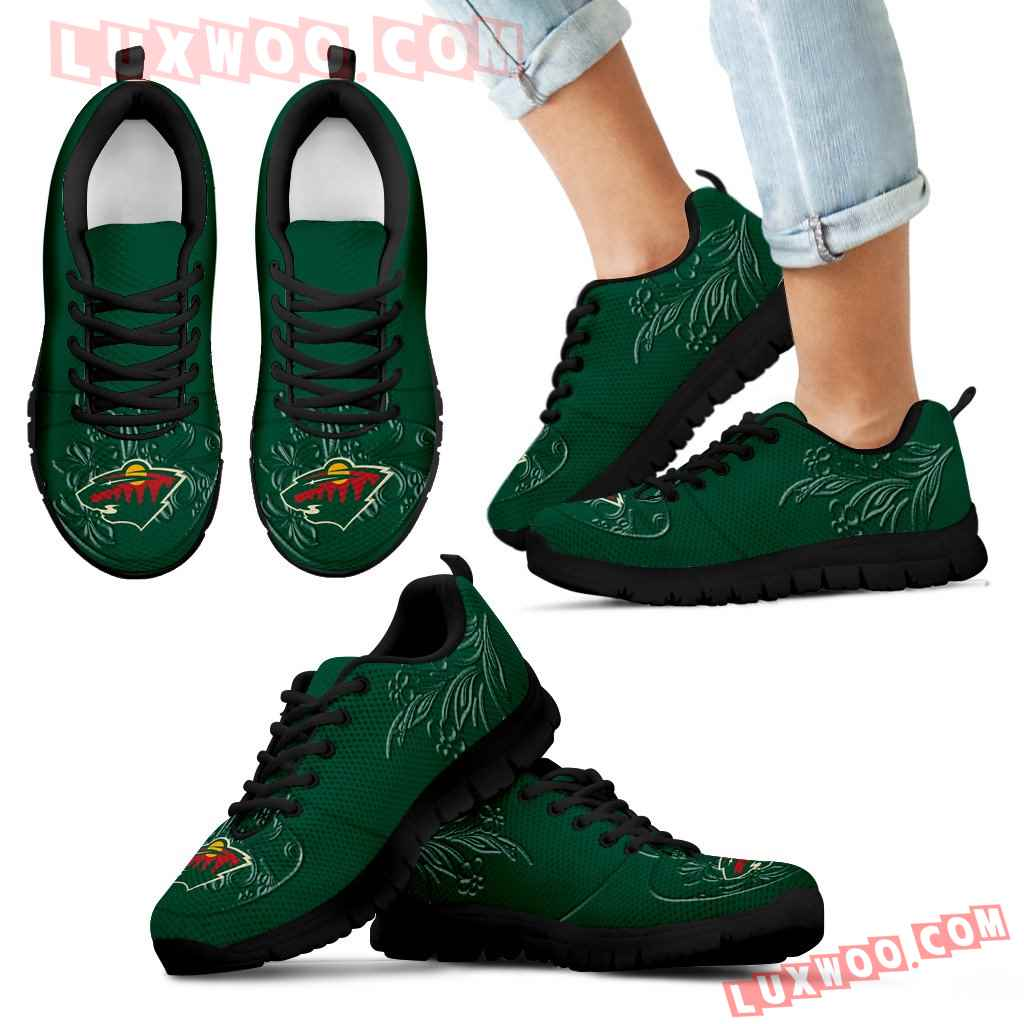 Lovely Floral Print Minnesota Wild Sneakers