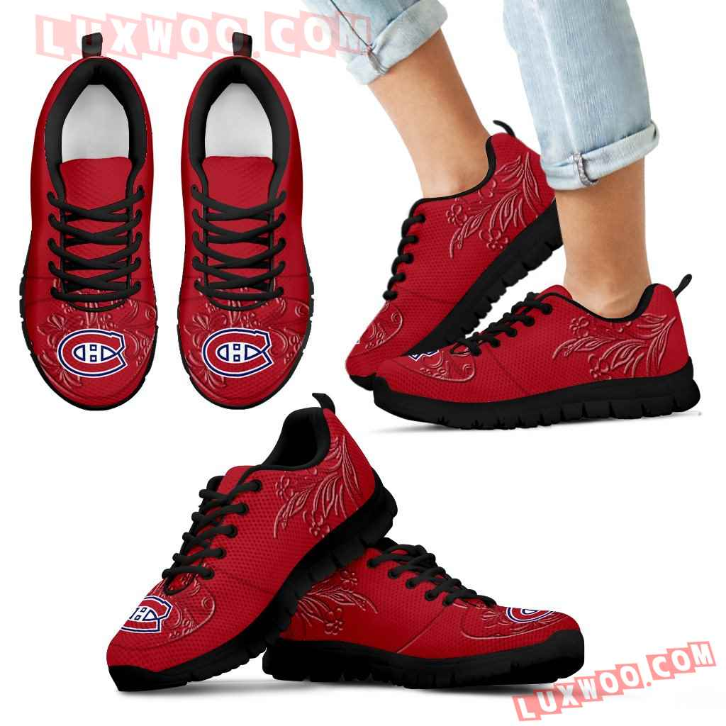 Lovely Floral Print Montreal Canadiens Sneakers