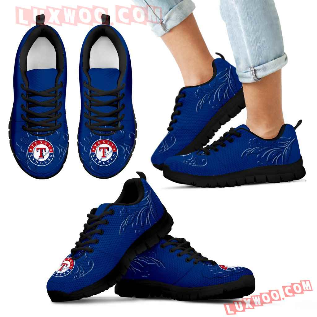 Lovely Floral Print Texas Rangers Sneakers