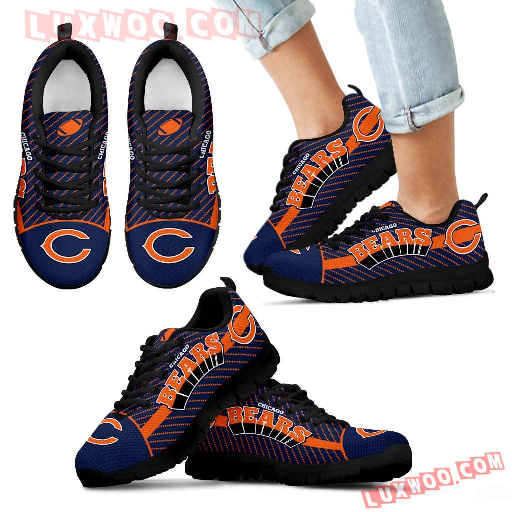 Lovely Stylish Fabulous Little Dots Chicago Bears Sneakers