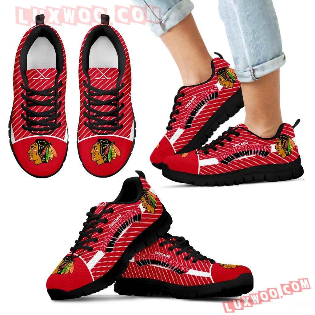 Lovely Stylish Fabulous Little Dots Chicago Blackhawks Sneakers