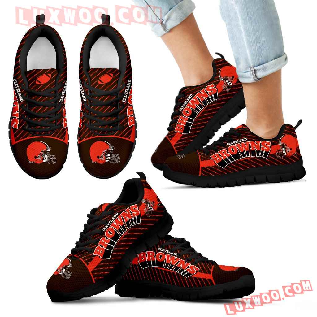 Lovely Stylish Fabulous Little Dots Cleveland Browns Sneakers