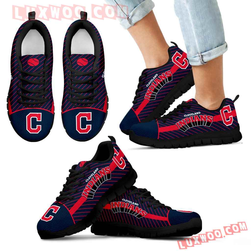 Lovely Stylish Fabulous Little Dots Cleveland Indians Sneakers