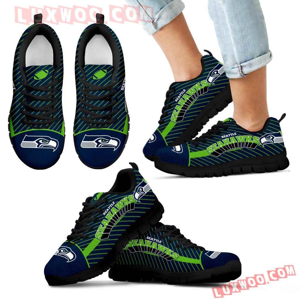 Lovely Stylish Fabulous Little Dots Seattle Seahawks Sneakers