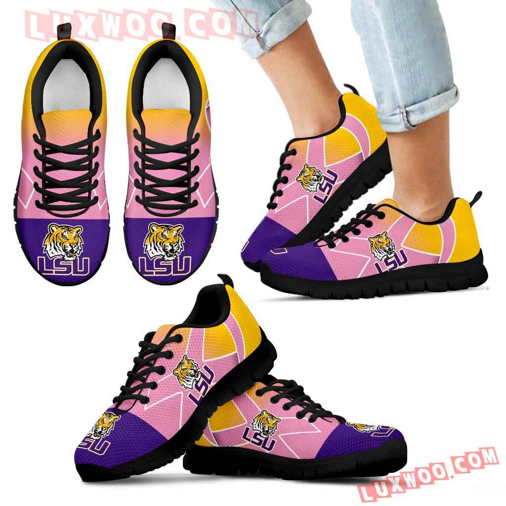 Lsu Tigers Cancer Pink Ribbon Sneakers