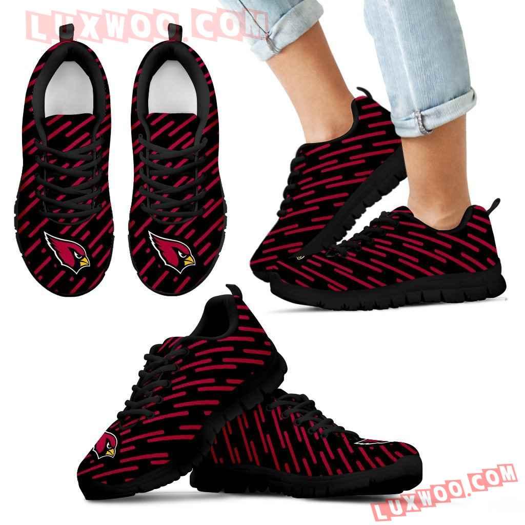 Marvelous Striped Stunning Logo Arizona Cardinals Sneakers