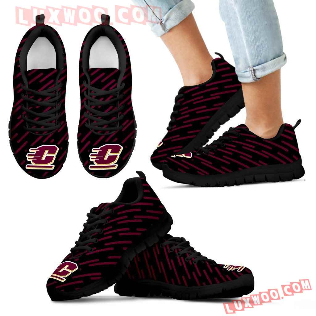 Marvelous Striped Stunning Logo Central Michigan Chippewas Sneakers