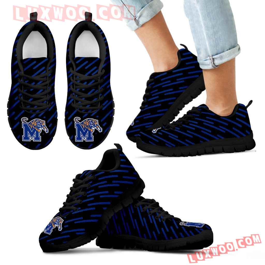Marvelous Striped Stunning Logo Memphis Tigers Sneakers