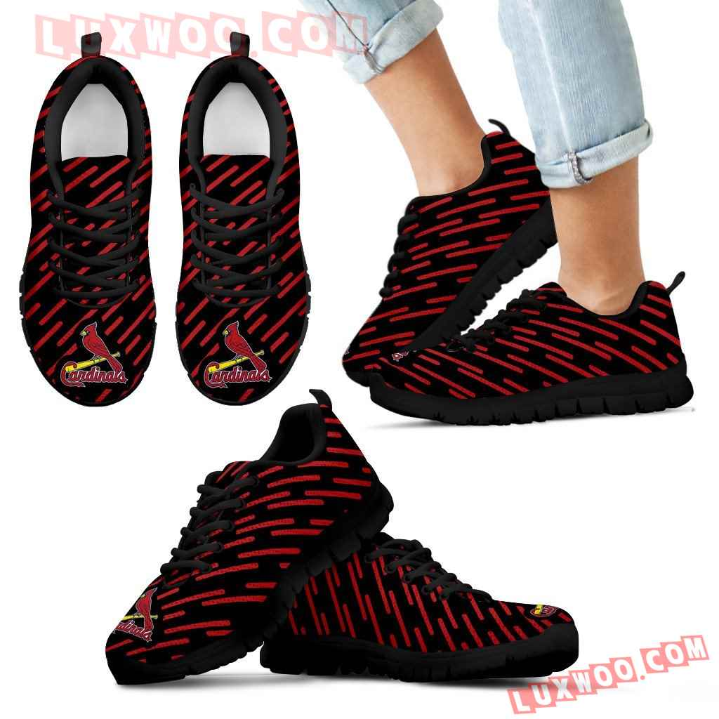 Marvelous Striped Stunning Logo St Louis Cardinals Sneakers