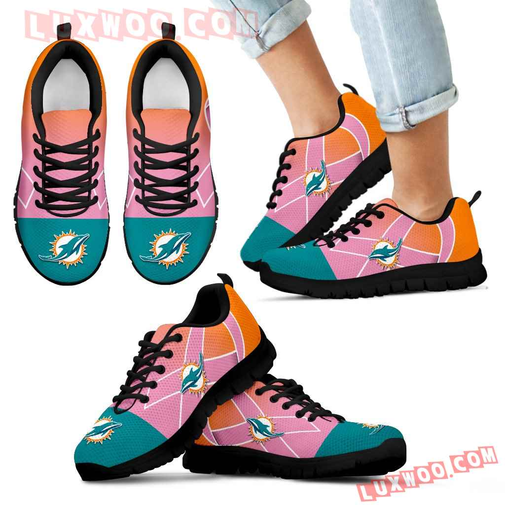 Miami Dolphins Cancer Pink Ribbon Sneakers