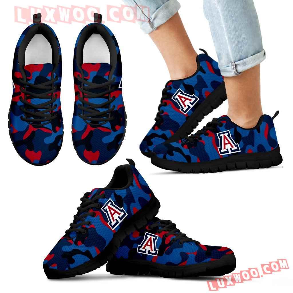 Military Background Energetic Arizona Wildcats Sneakers