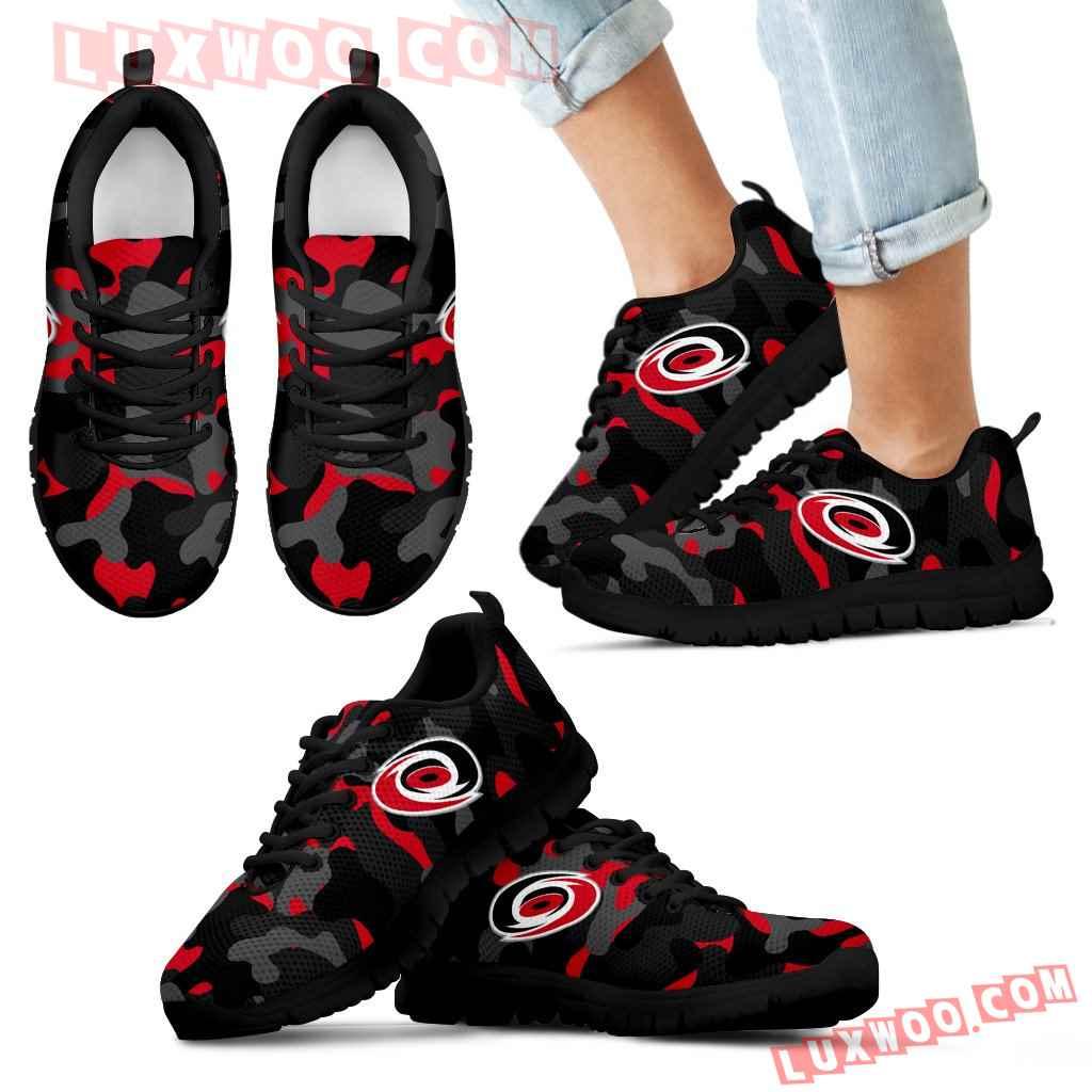 Military Background Energetic Carolina Hurricanes Sneakers