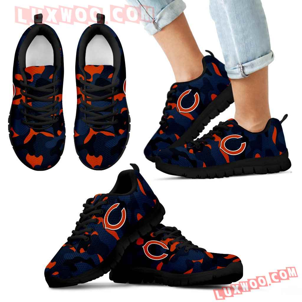 Military Background Energetic Chicago Bears Sneakers