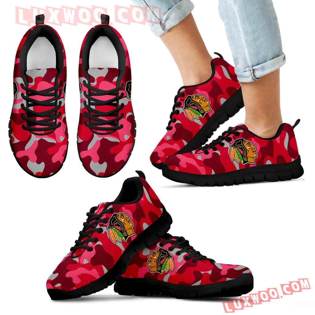 Military Background Energetic Chicago Blackhawks Sneakers