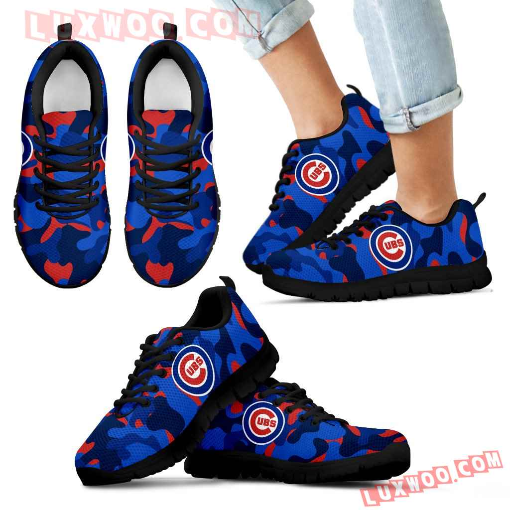 Military Background Energetic Chicago Cubs Sneakers