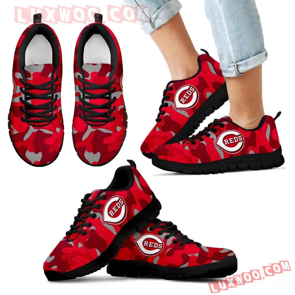 Military Background Energetic Cincinnati Reds Sneakers