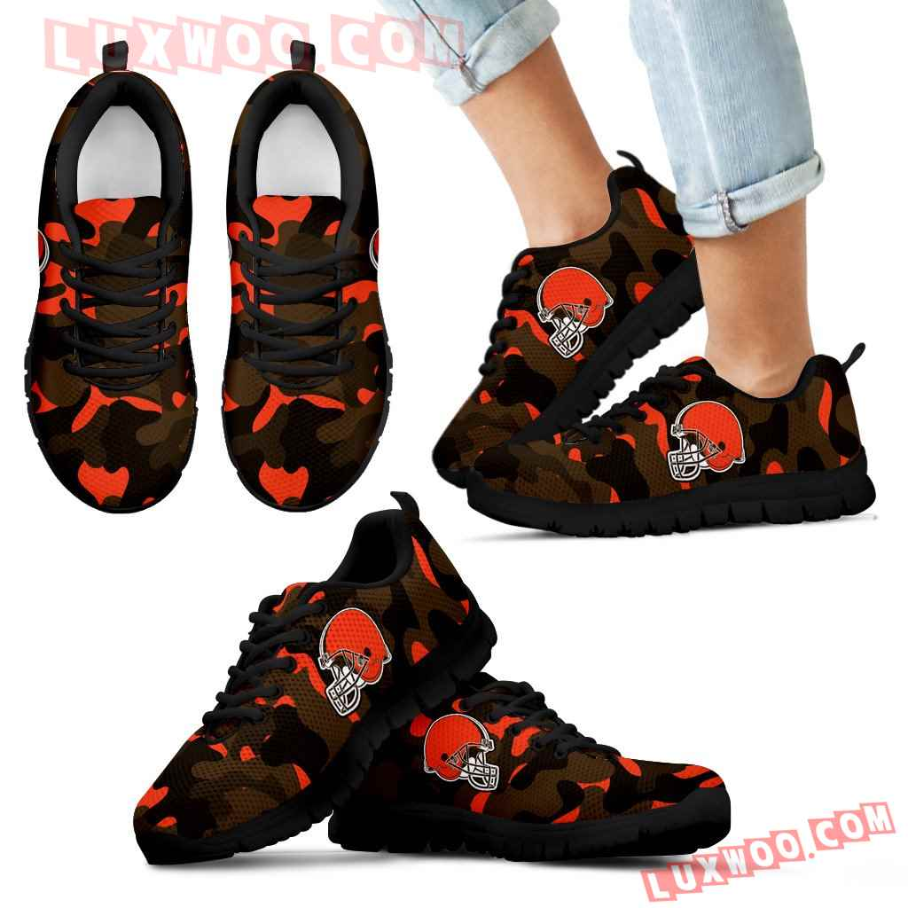 Military Background Energetic Cleveland Browns Sneakers