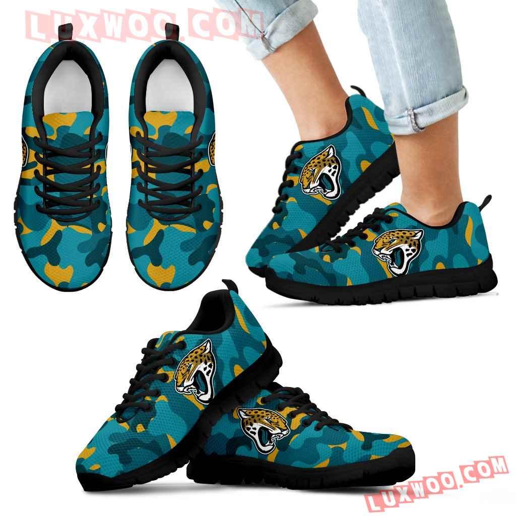 Military Background Energetic Jacksonville Jaguars Sneakers