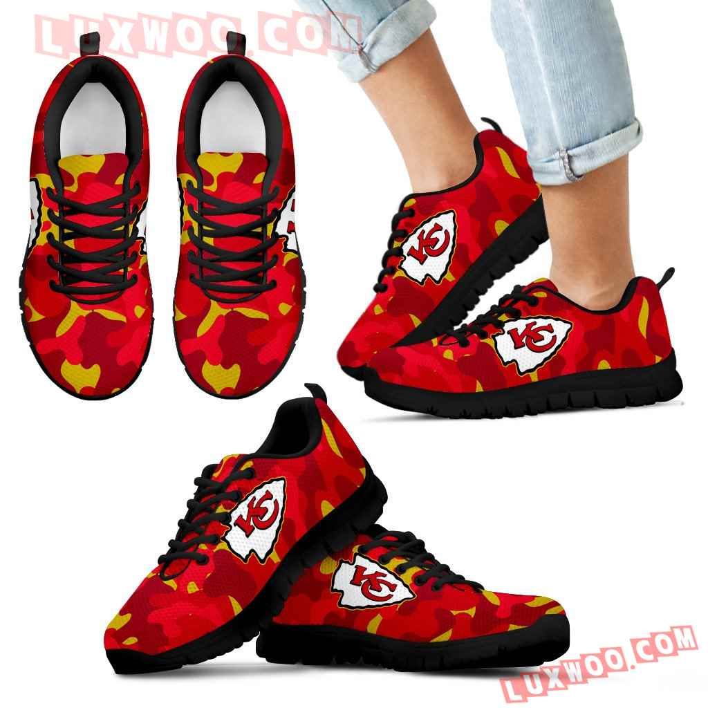 Military Background Energetic Kansas City Chiefs Sneakers