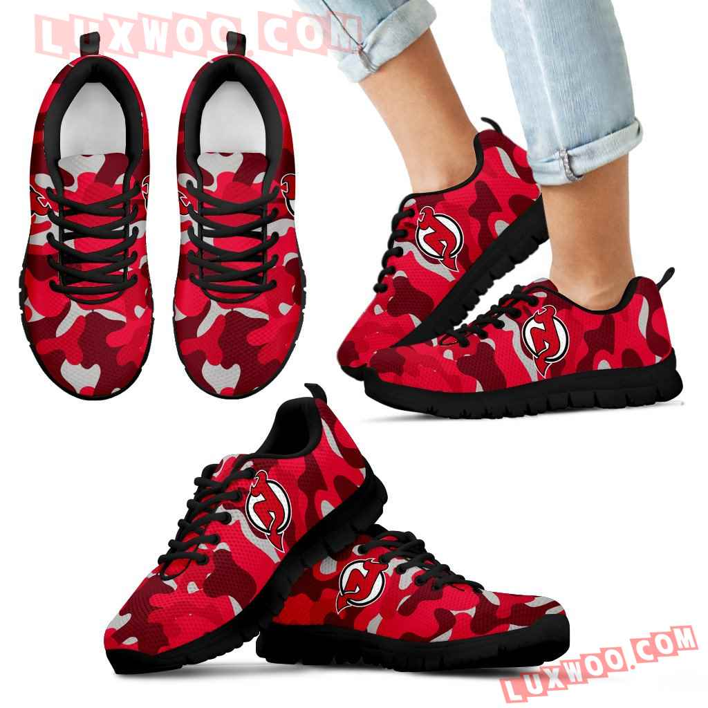 Military Background Energetic New Jersey Devils Sneakers