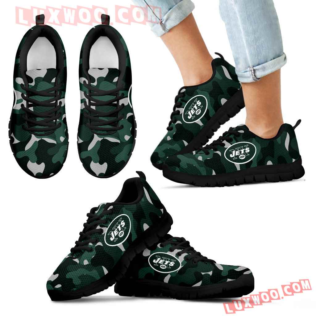 Military Background Energetic New York Jets Sneakers