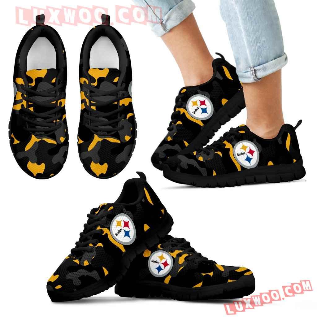 Military Background Energetic Pittsburgh Steelers Sneakers