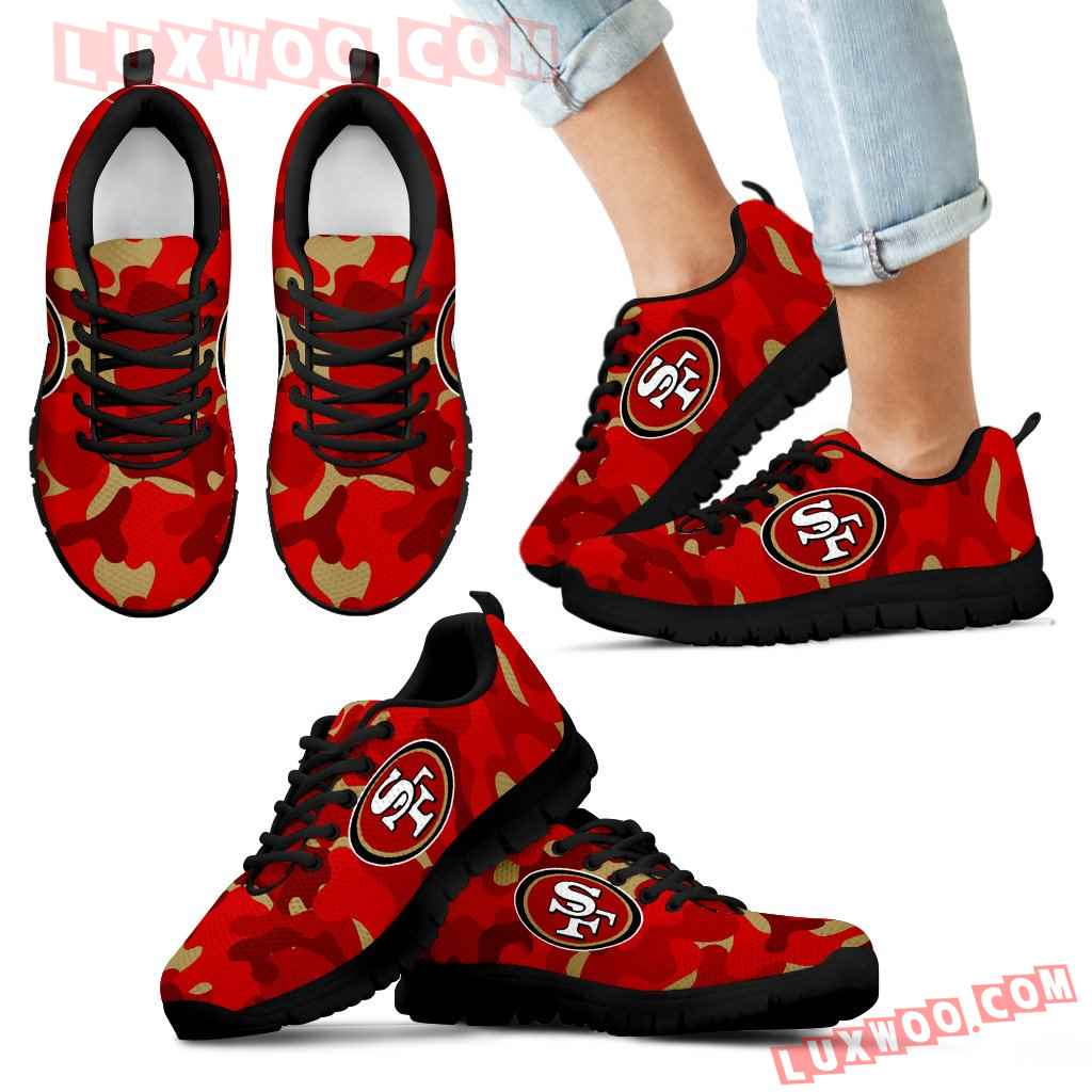 Military Background Energetic San Francisco 49ers Sneakers
