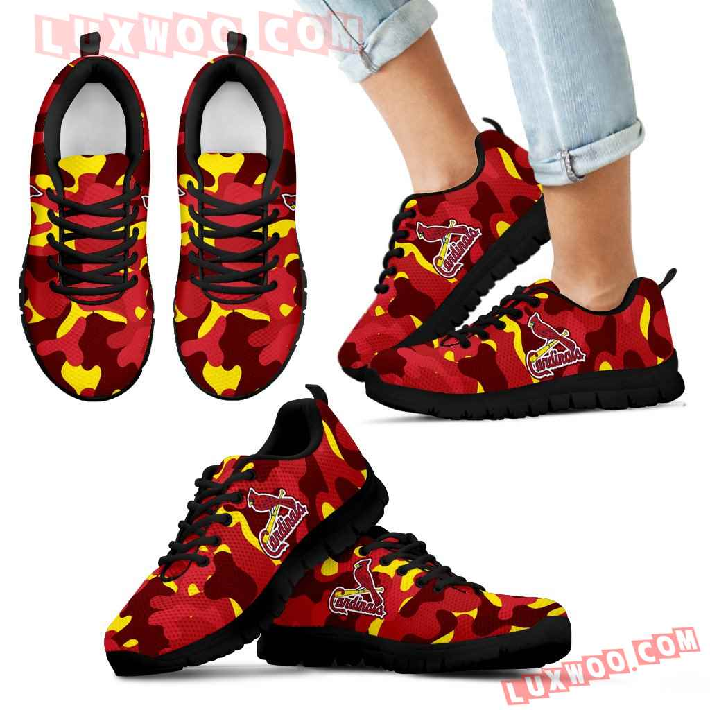 Military Background Energetic St Louis Cardinals Sneakers