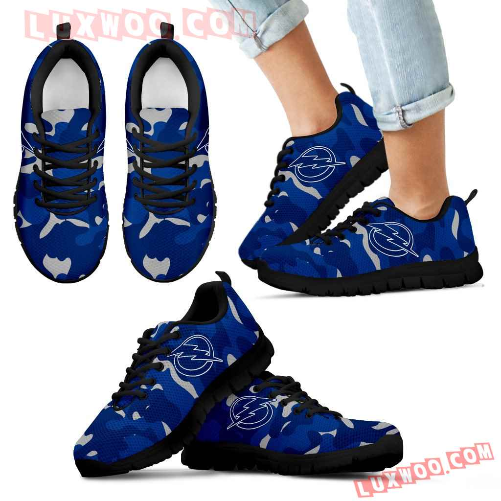 Military Background Energetic Tampa Bay Lightning Sneakers