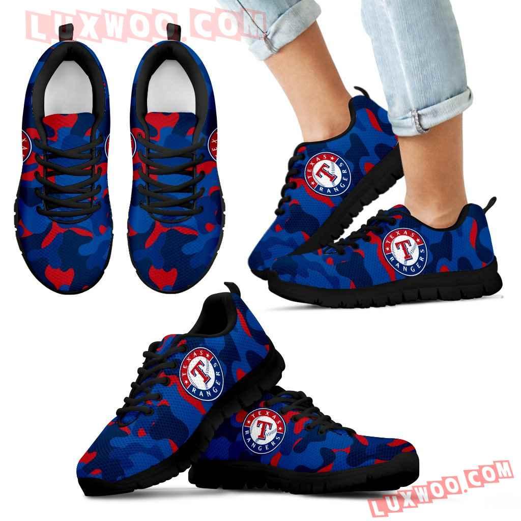 Military Background Energetic Texas Rangers Sneakers