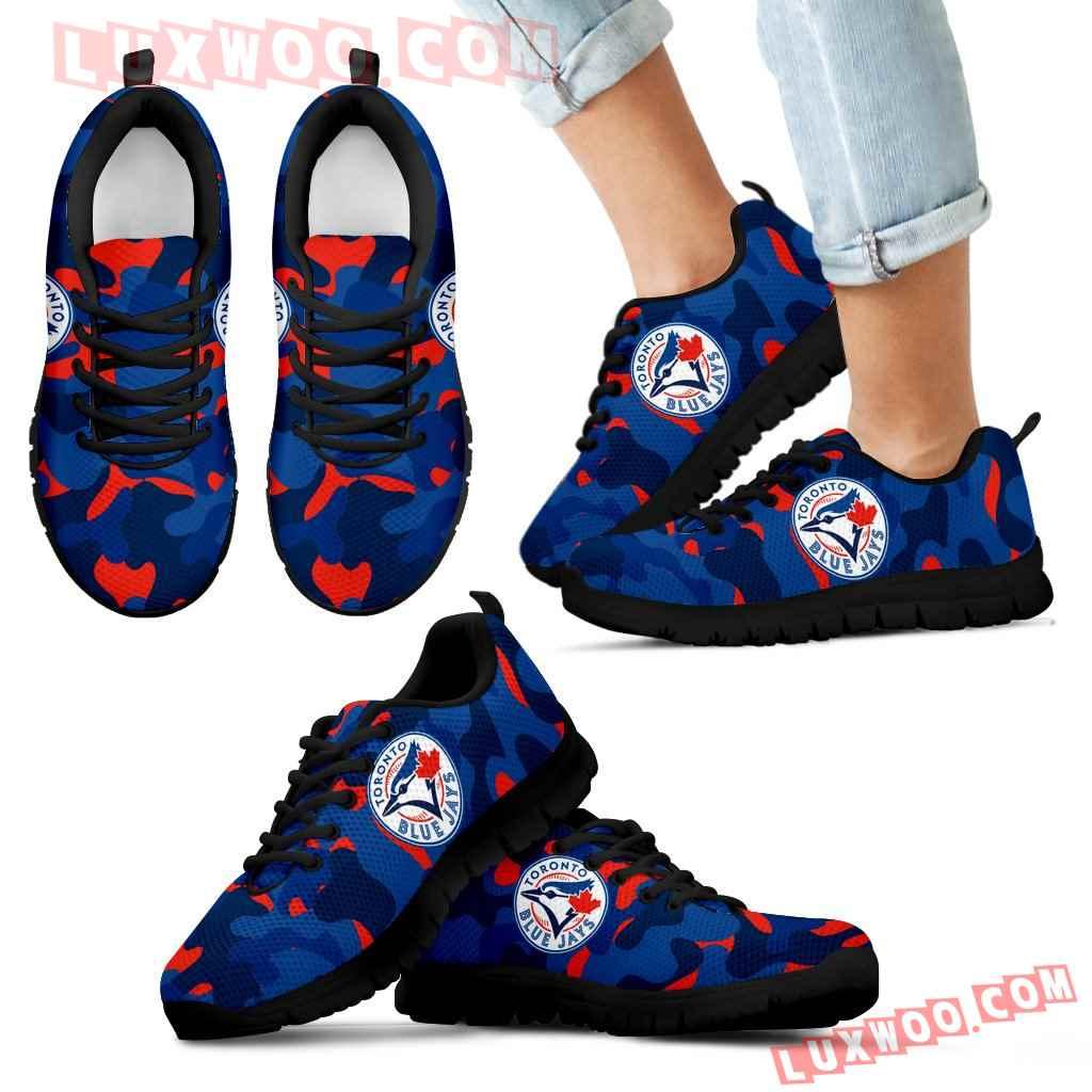 Military Background Energetic Toronto Blue Jays Sneakers